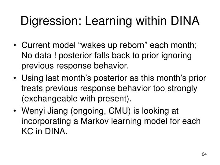 Digression: Learning within DINA