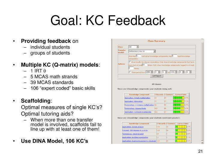 Goal: KC Feedback
