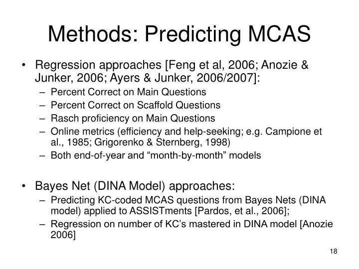 Methods: Predicting MCAS