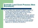 example land grant process new brunswick