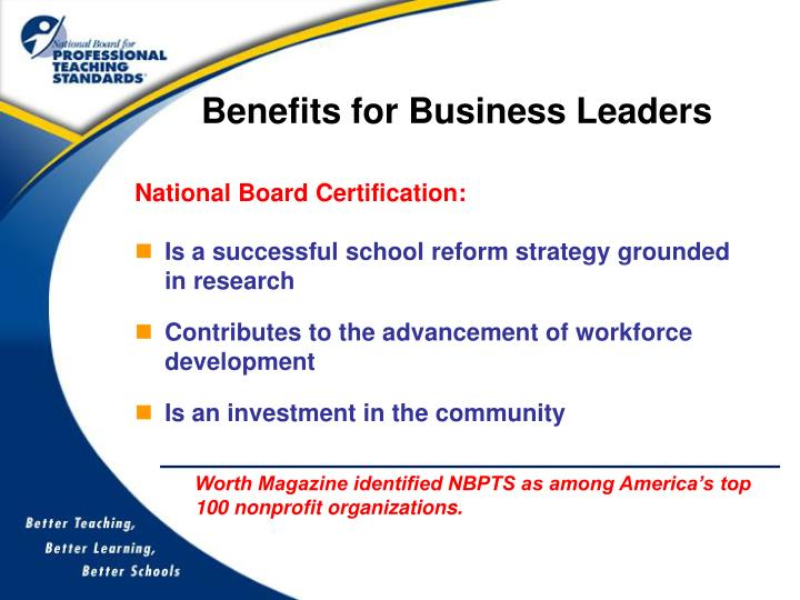 Benefits for Business Leaders