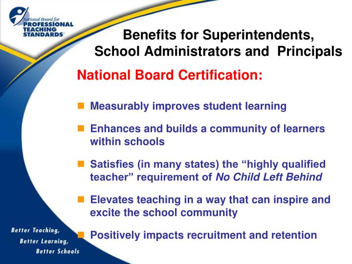 Benefits for Superintendents,