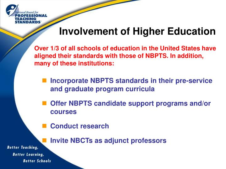 Involvement of Higher Education