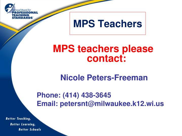 MPS Teachers
