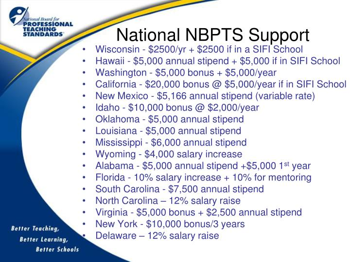 National NBPTS Support