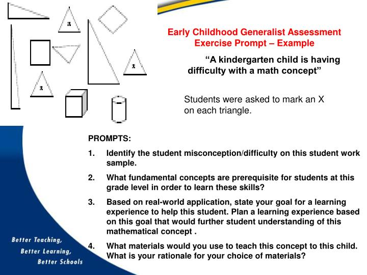 Early Childhood Generalist Assessment Exercise Prompt – Example