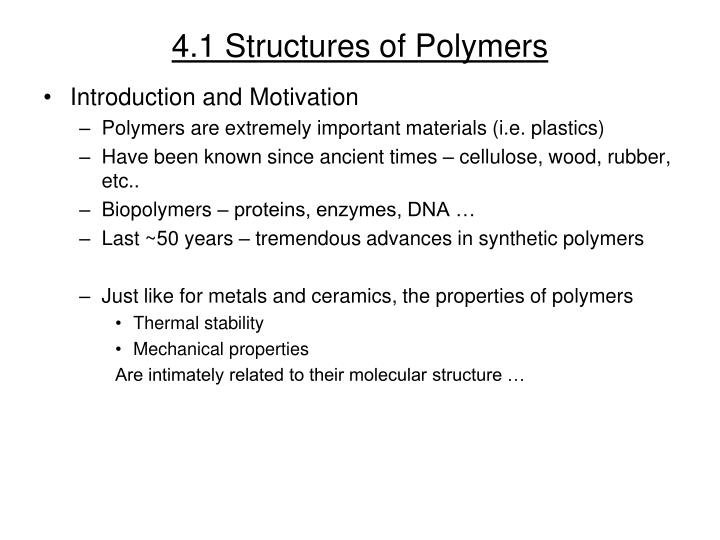 4 1 structures of polymers