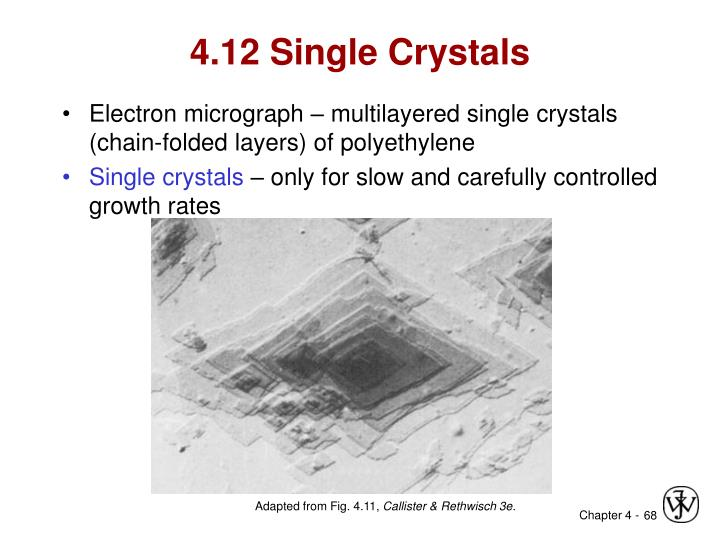 4.12 Single Crystals