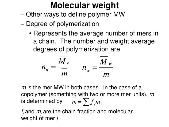 Molecular weight