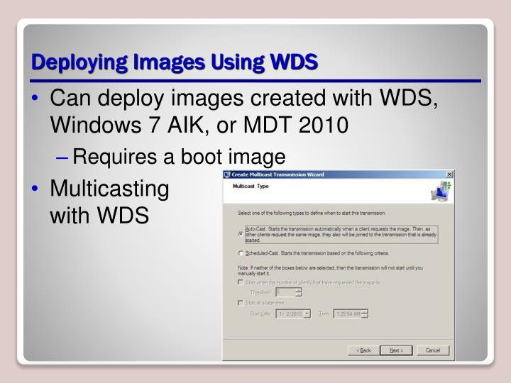 Deploying Images Using WDS