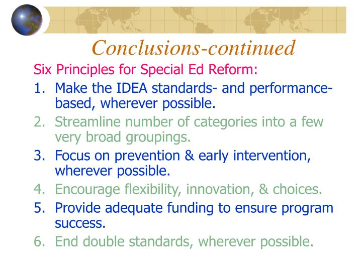 Conclusions-continued