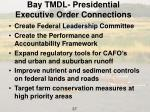 bay tmdl presidential executive order connections
