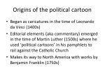 origins of the political cartoon