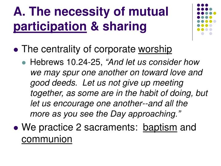 A. The necessity of mutual