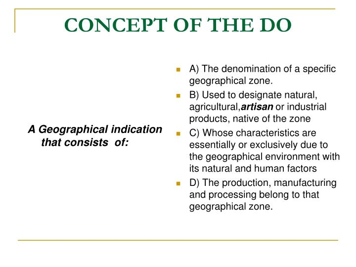 A Geographical indication that consists