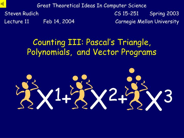 Counting iii pascal s triangle polynomials and vector programs