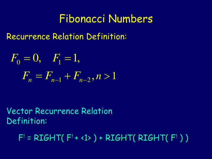 Vector Recurrence Relation Definition: