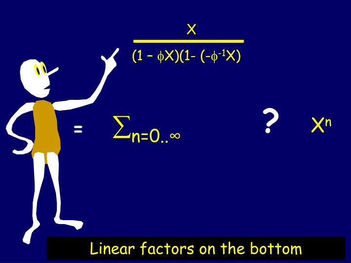 Linear factors on the bottom