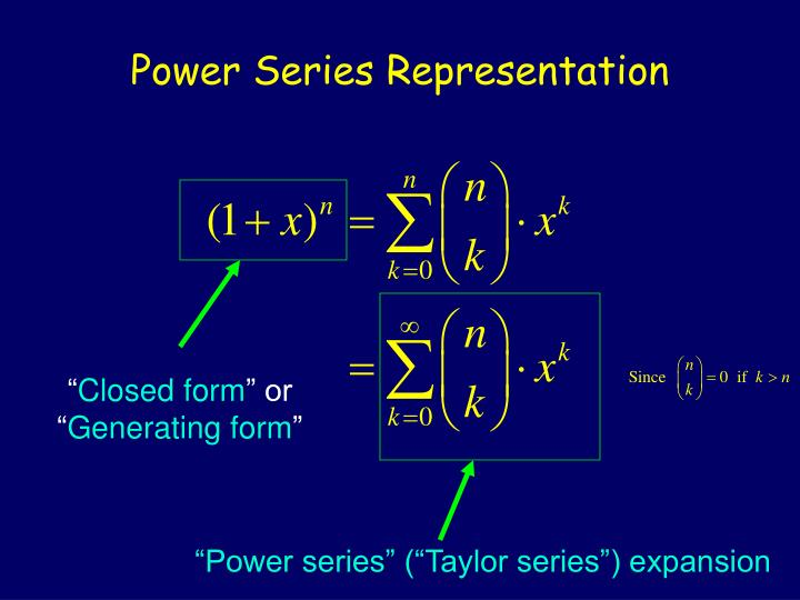 Power Series Representation