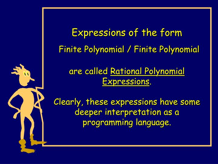 Expressions of the form