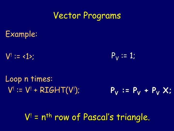 Vector Programs