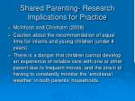 shared parenting research implications for practice1
