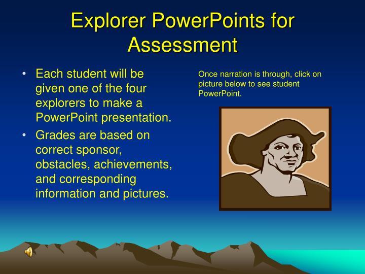 Explorer PowerPoints for Assessment