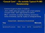 casual care rx outside typical pt md relationship