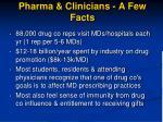 pharma clinicians a few facts