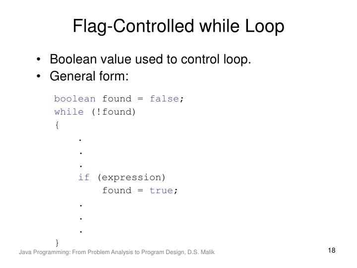 Flag-Controlled while Loop