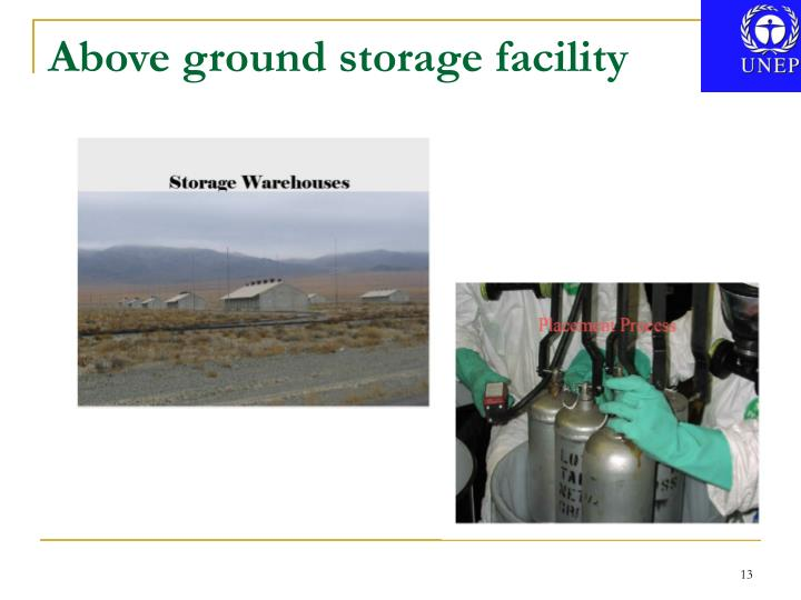 Above ground storage facility