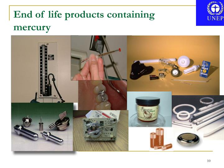 End of life products containing