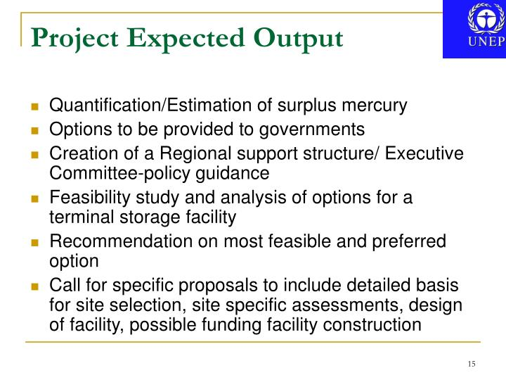 Project Expected Output