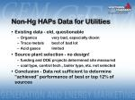 non hg haps data for utilities