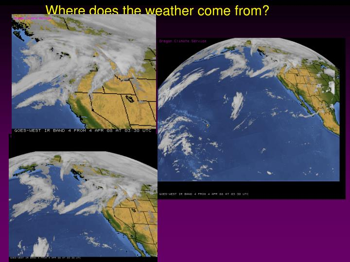 Where does the weather come from?