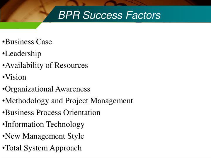 BPR Success Factors