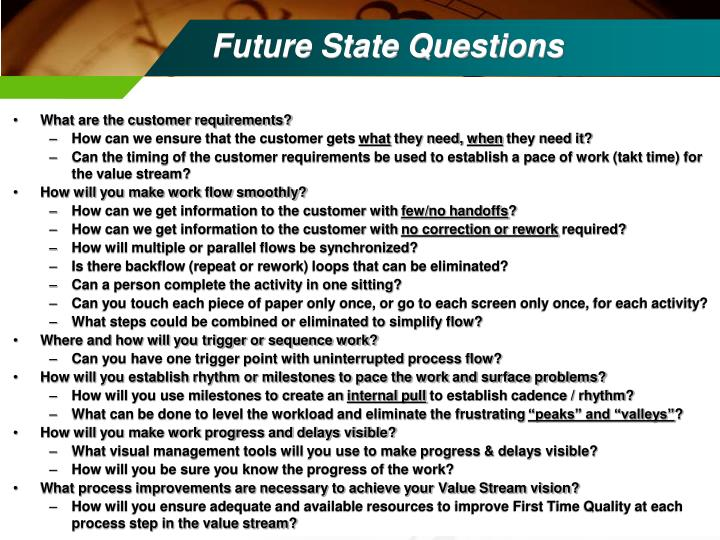 Future State Questions