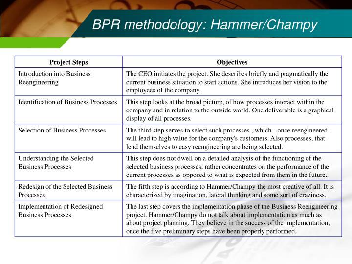 BPR methodology: