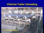 chlorine trailer unloading