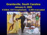 graniteville south carolina january 6 2005 9 killed 554 hospitalized 5 400 evacuated3