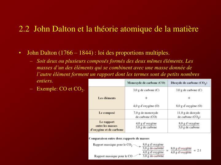 2 2 john dalton et la th orie atomique de la mati re