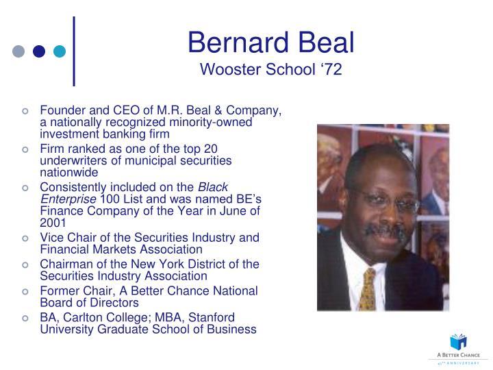 Bernard beal wooster school 72