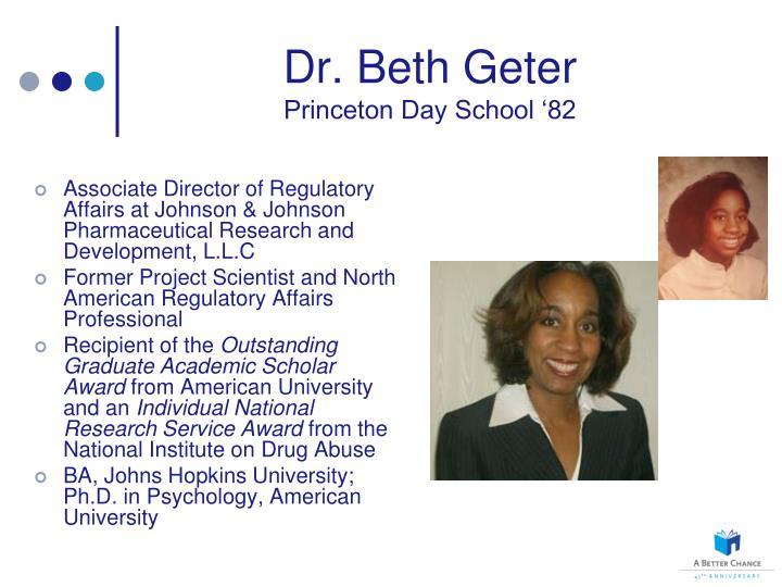 Dr. Beth Geter