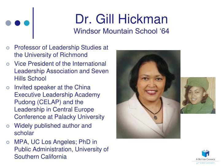 Dr. Gill Hickman