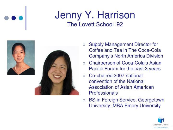 Jenny Y. Harrison