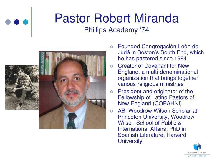 Pastor Robert Miranda