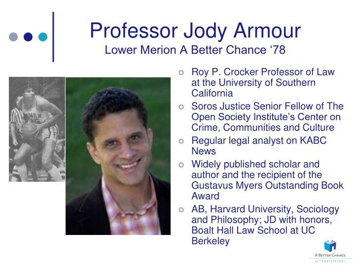 Professor jody armour lower merion a better chance 78