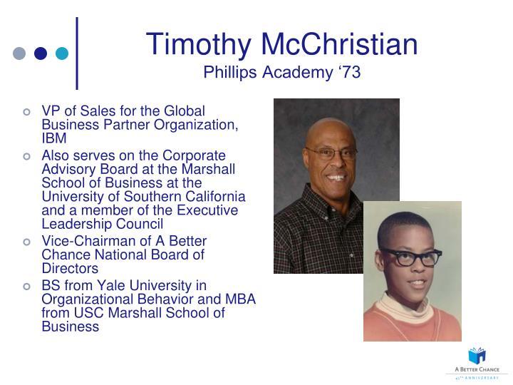 Timothy McChristian