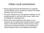 urban rural connections