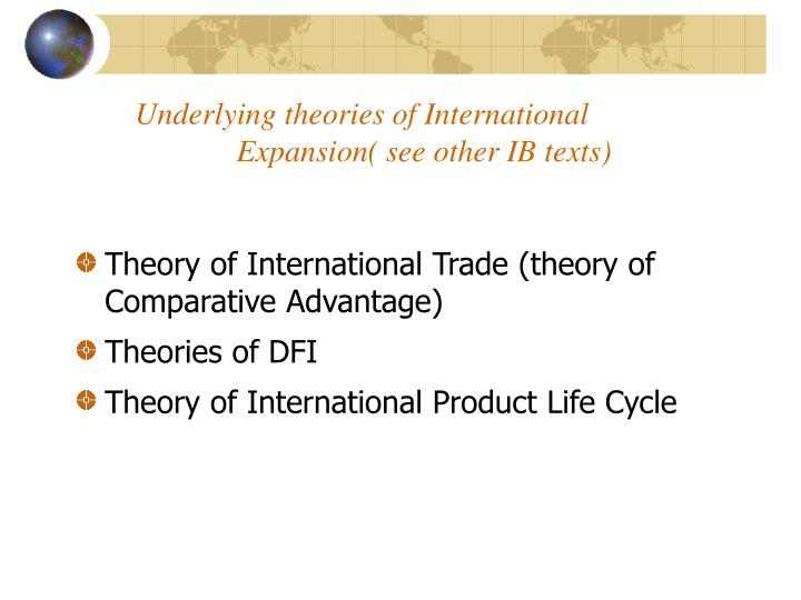 Underlying theories of International